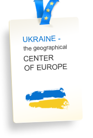 Ukraine - the geografical center of Europe